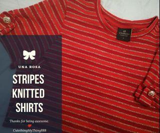 Stripes knitted shirts by UNA ROSA