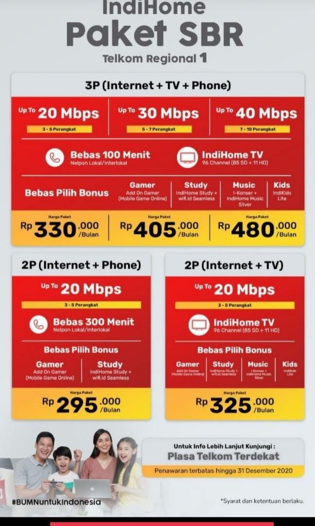 WiFi indihome Medan internet unlimited