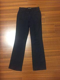 (二手)彈性藏青色直筒褲XL