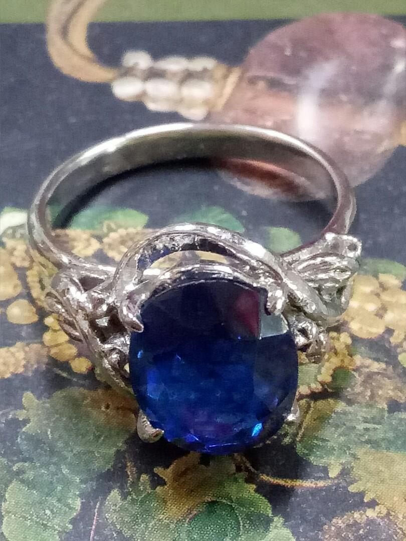 復古藍寶戒指