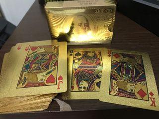 金喜迎春黃金撲克牌