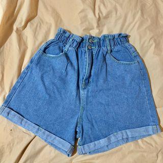 彈性牛仔短褲
