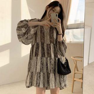 韓版宮廷雪紡裙
