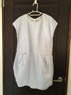 a la sha Qummi 條紋短袖洋裝 M號
