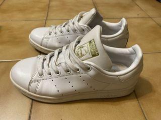 【adidas】愛迪達經典鞋女鞋史密斯STAN SMITH F36575三葉草 休閒鞋 白色36號/4號/22.5號