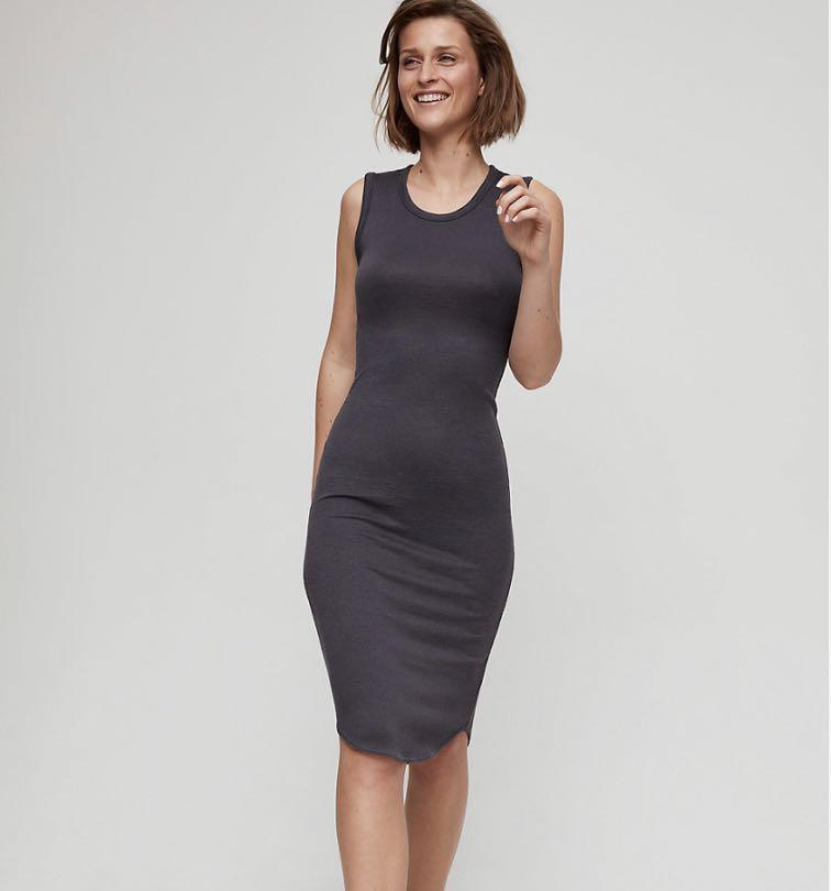 Aritzia | Wilfred Free Bruni Dress Black Size S