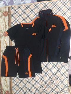 Body Engineer ANAX Performance Shorts - Black & Dutch Orange