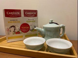 Carmién南非博士茶 國寶茶 早晨精力茶及晚上順暢茶 低卡 無糖 零咖啡因