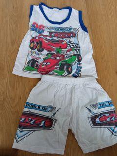 Cars top & shorts