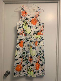 GAP White Floral Dress