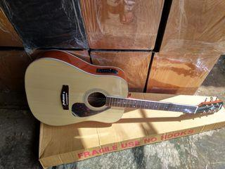 Gitar akustik elektrik gitar jumbo rentet new