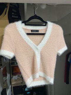 glassons two toned fluffy top
