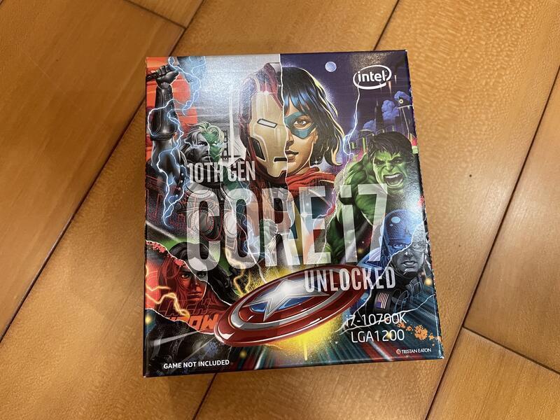 Intel Core i7-10700K 中央處理器(漫威包裝)