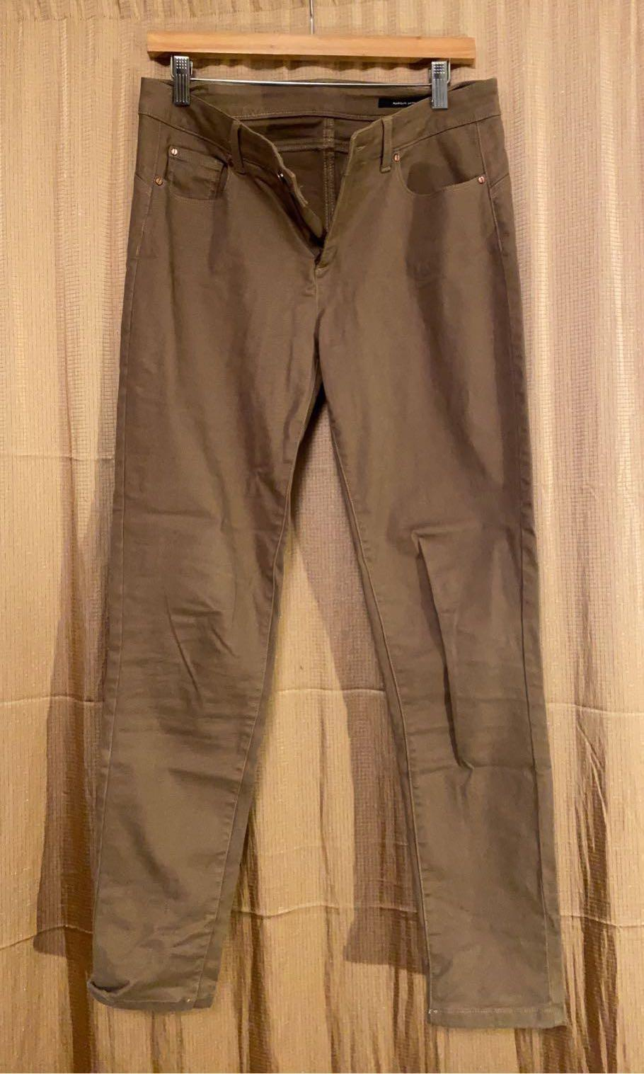 Jones New York Beige Brown Skinny Fit Pants