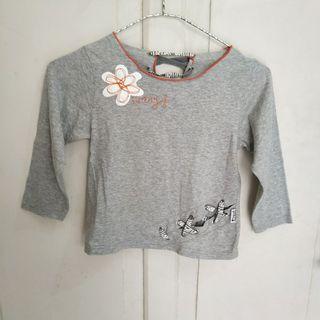 JUAL CEPAT Baju Atasan Anak Perempuan Tali bunga Abu