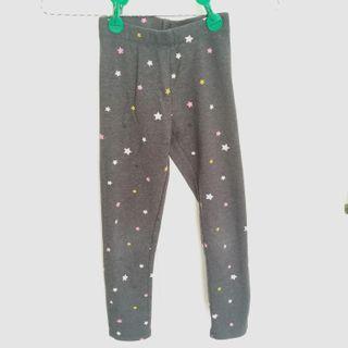 JUAL CEPAT Legging Celana Stretch Melar H&M Anak Perempuan Hati Gray Grey Cute Cotton Organic Katun Abu Bintang