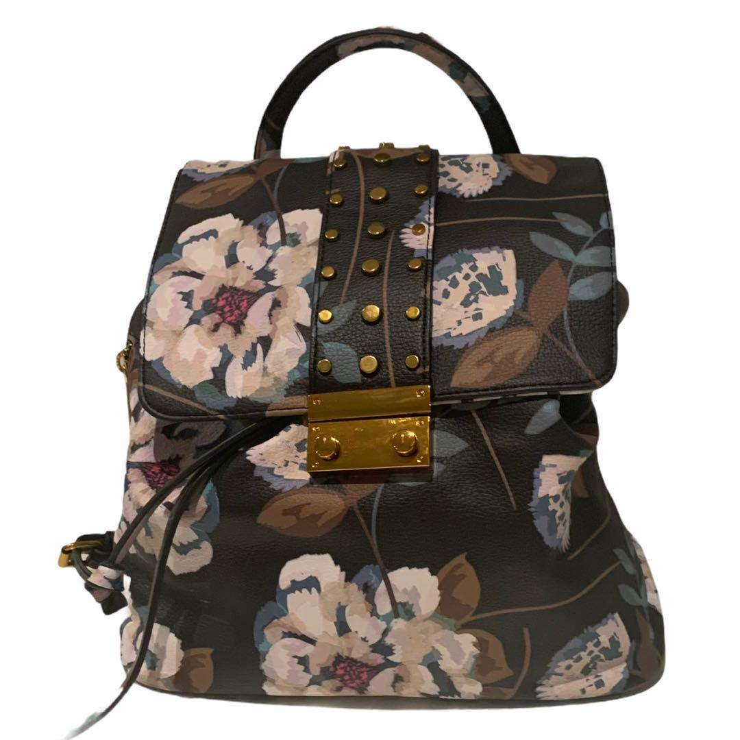 Love & Lore | Mini Flowery Backpack Gold Buckle
