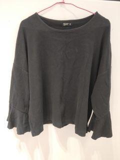 黑色大寬袖長袖上衣M號