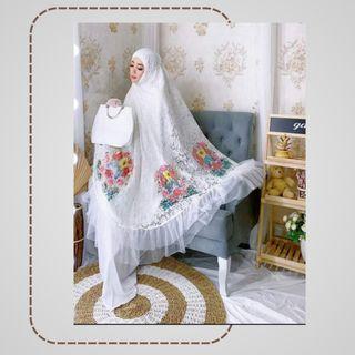 Mukena Barbie White Premiun