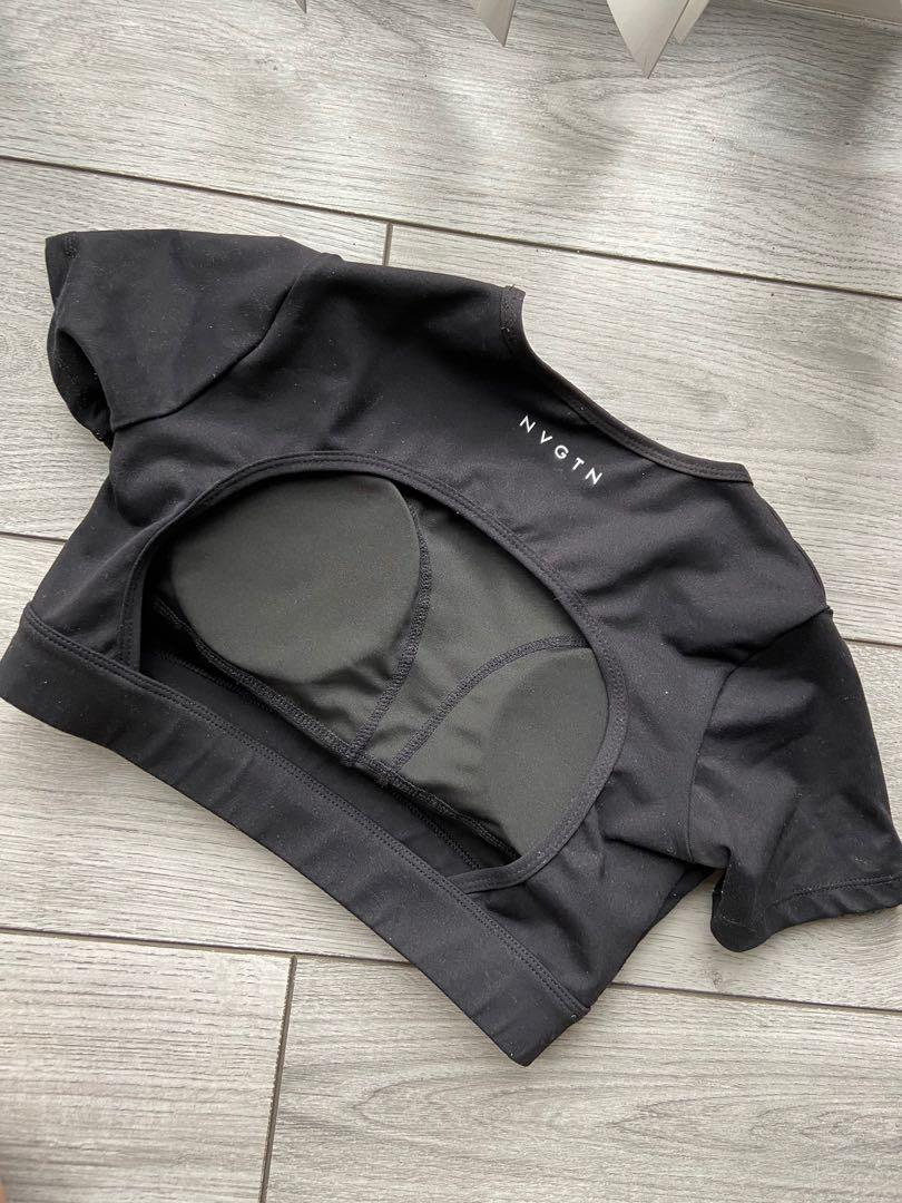 NVGTN cropped top with removable cup pads