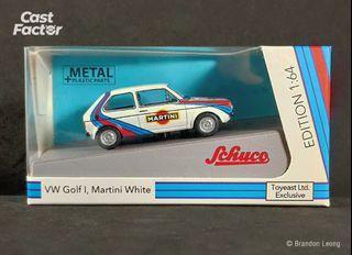 Schuco 1:64 Volkswagen Golf 1 Martini White (Toyeast Exclusive)