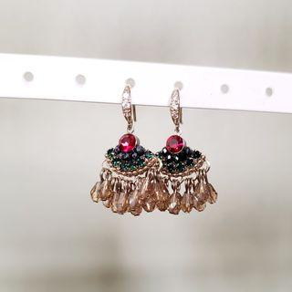 💫Silver Beaded Earrings
