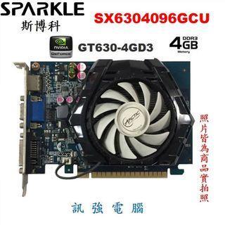 SPARKLE 斯博科 SX6304096GCU 顯示卡、GT630、4GB、128Bit、二手良品【自取價 900】