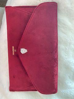 Swarovski velvet jewelry bag