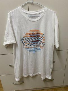 男生白色短袖T恤XL號 宿霧購入