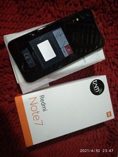 Xiaomi redmi note 7 ram 4/64 GB full set mulus