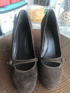 Zara suede leather