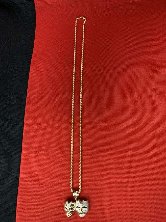 10K Gold Chain and Pendant