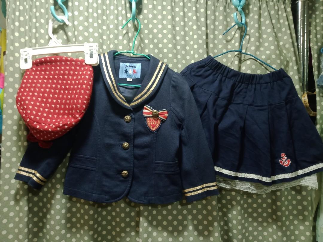 3Y冬季日系偶像水手服三件組