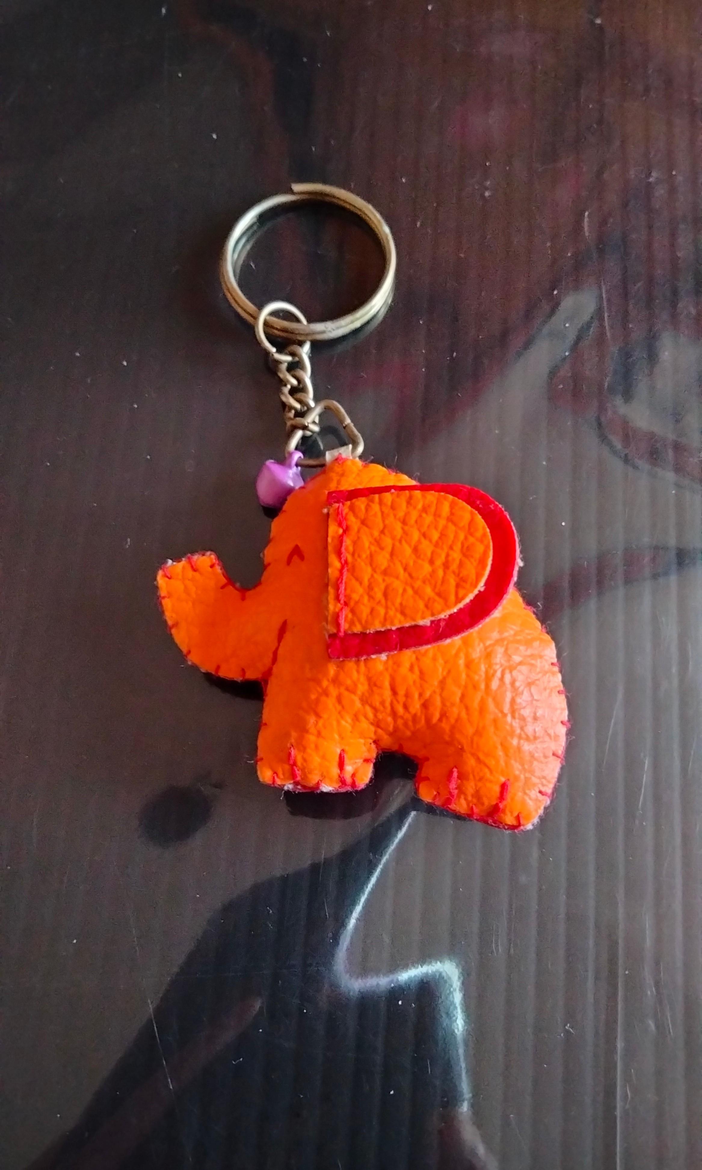 🐘《大象皮質鑰匙圈》