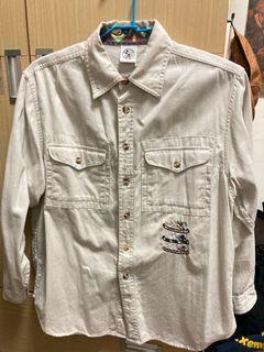 古著vintage米奇長袖襯衫#2021地球日