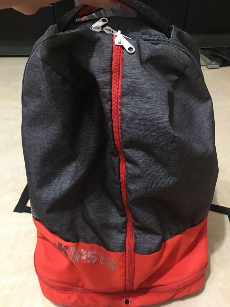 [三件免運]迪卡儂籃球後背包 有電腦夾層、鞋袋、腰扣、水壺網袋