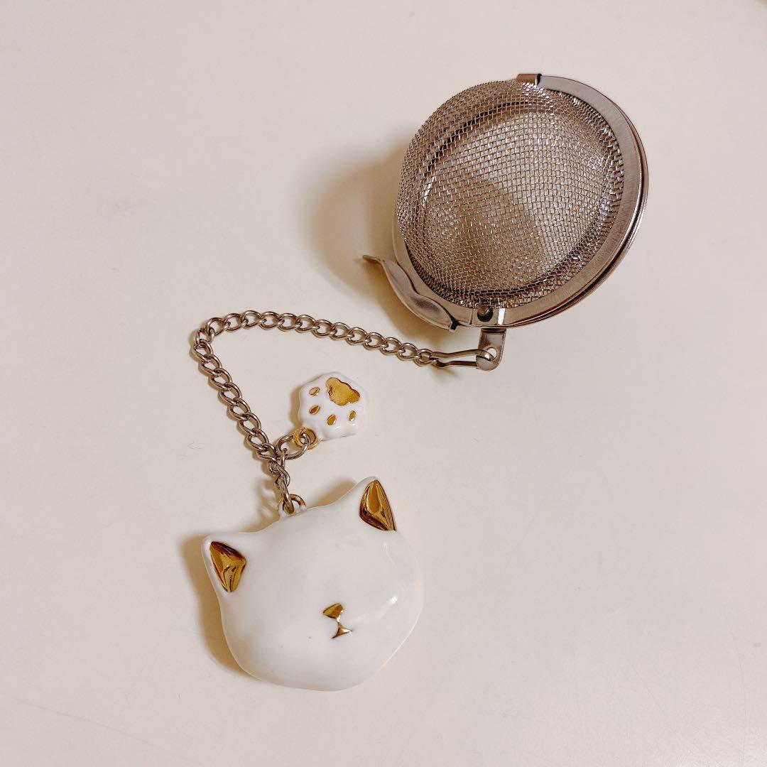 全新🐈貓咪造型金邊泡茶器 低調奢華