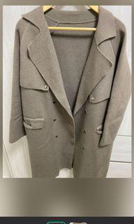 厚針織 長版大衣 大出清