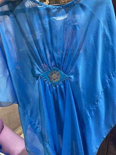 #LEBARAN Baju gamis biru