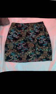 Black Jacquard Shein skirt