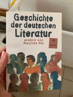 Buku Literatur Jerman   Gescichte der deutschen Literatur