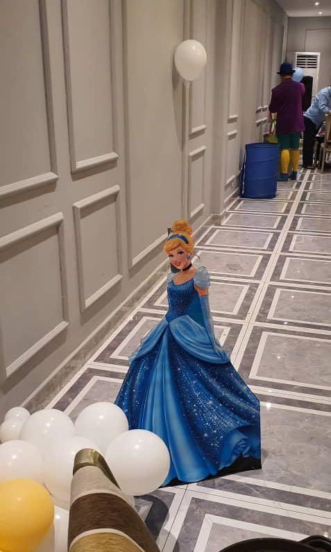 Cinderella theme birthday props