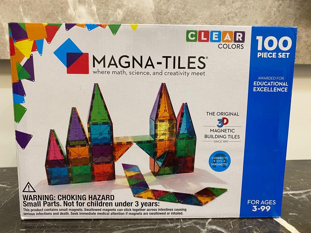 Magna-Tiles 透光彩色 磁力片 100 件組-二手