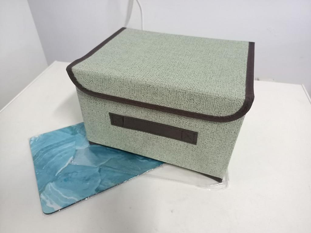 [New/No Urgent Order] Foldable Lightweight Storage Box of Imitated Cotton and Linen in Four Colors