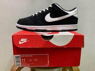 Nike dunk low 黑白雞皮 size:11