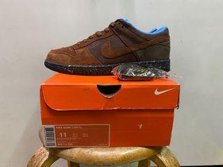 Nike dunk low 棕色雞皮 size:11