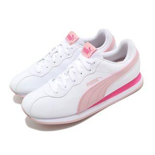 Puma 休閒鞋 Turin II 運動 女鞋 基本款 簡約 皮革 質感 舒適 白 粉