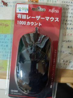 QH-300(B) USB有線光學滑鼠 - 黑 - FUJITSU富士通