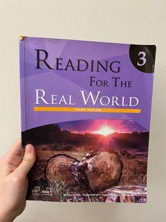 Reading for the real world third edition 3 英文 原文書 教科書