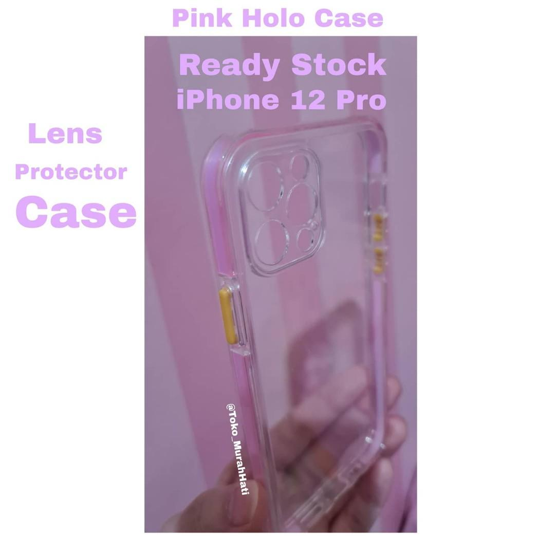 READY STOCK Pink Holo Case iPhone 12 Pro